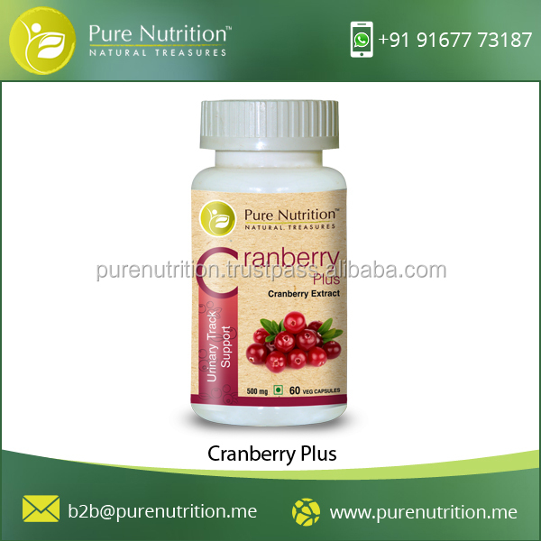 ISO Certified Pure and Natural Cranberry Plus for Anti Oxidant Activity of Body