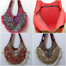Indian Wholesale Hand Embroidery Cotton Hippie bag Ethnic Tote Bag Wholesale
