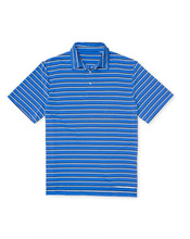 STRIPED PERFORMANCE MEN'S HIGH QUALITY POLO SHIRT