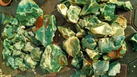 CHRYSOPRASE CHRYSOPAL CHALCEDONY ROUGH ORIGIN WEST JAVA INDONESIA