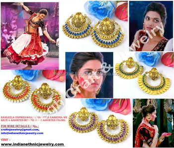 Ramleela Earrings - Deepika Padukone Earrings in Ram-leela - Ramleela Special Earrings - Bollywood earrings