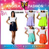 ANGELA Women Lady Girl Sexy Retro Vintage Skirt Short Chiffon Knit Dress S-XXL
