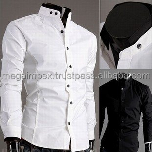 Long Sleeve Shirt Mens Dress Shirt And Pants For Working Wear
