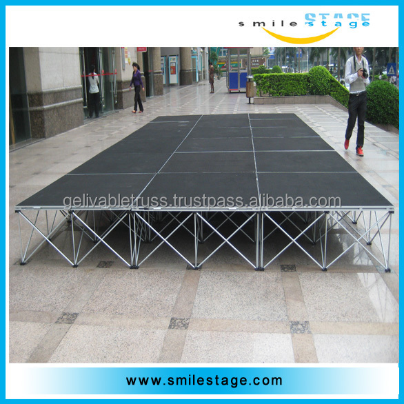 mini laser stage lighting mobile stage truck