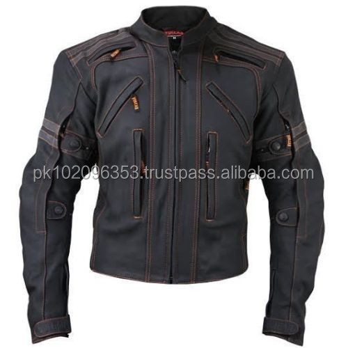 Motorcycle Street Matte Premium Cowhide Leather Jacket