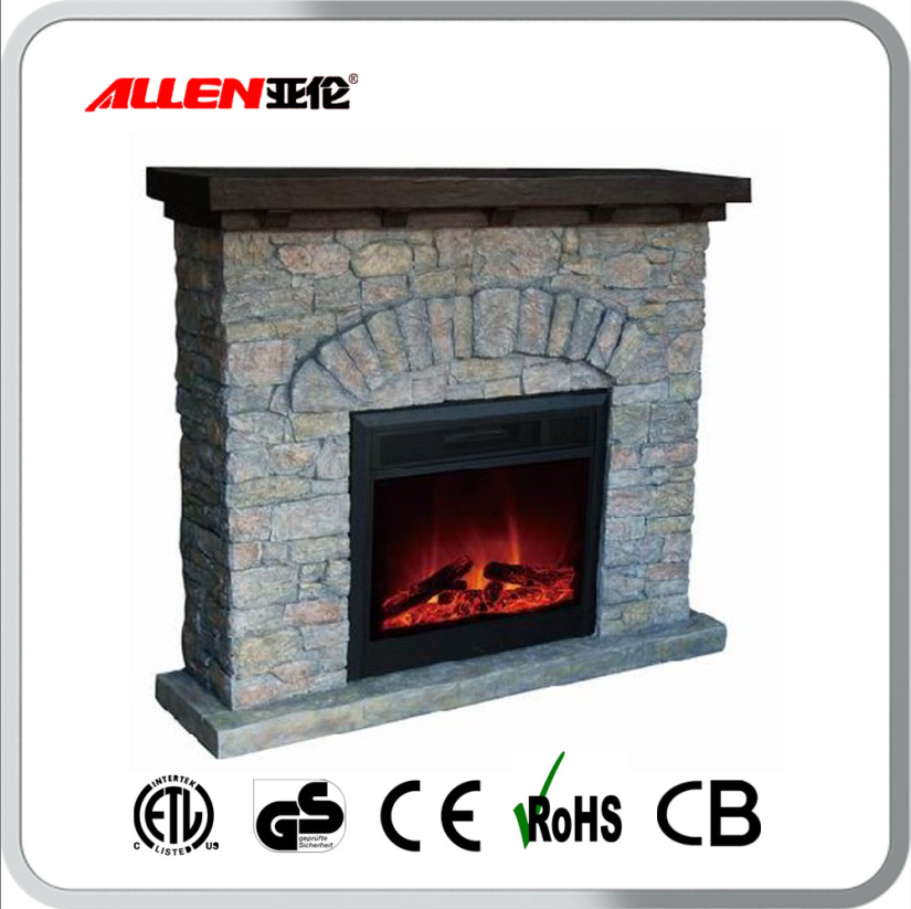 Best sell cambridge poly resin faux stone electric for Buy stone for fireplace