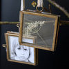 Double Sided Photo Frame, Decorative Frame, Hanging Glass Picture Frame