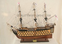 HMS VICTORY PAINTED WOODEN MODEL SHIP