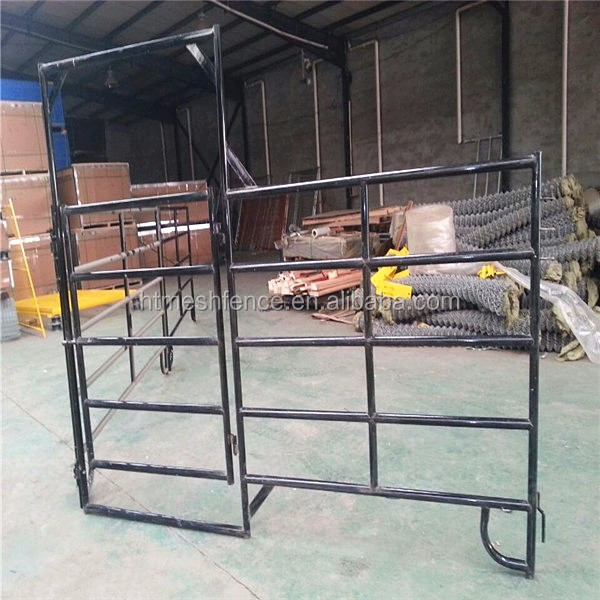 1.8x2.1m Heavy Duty Cattle Yard Panels With 6 Oval Rails and Locking Pins