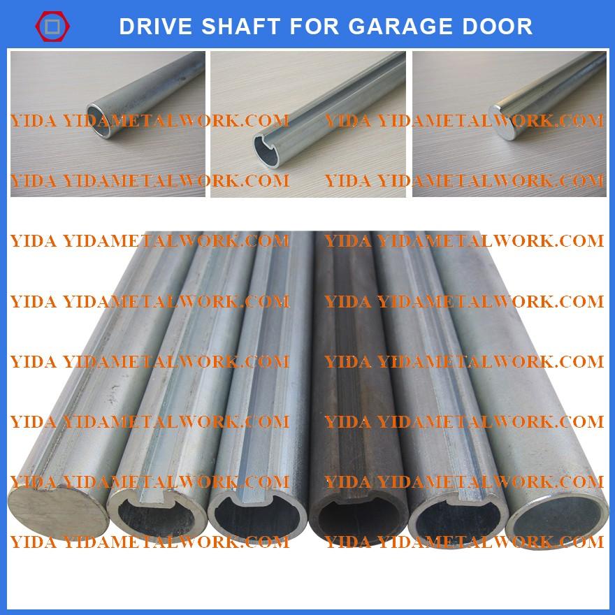 garage door shaftGarage door part drive door shaft with keyway galvanized  black