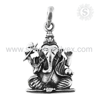 Oxidized ! 925 Sterling Silver Jewelry Wholesale, Handmade Silver Ganesh Pendant, Indian Silver Jewellery Supplier