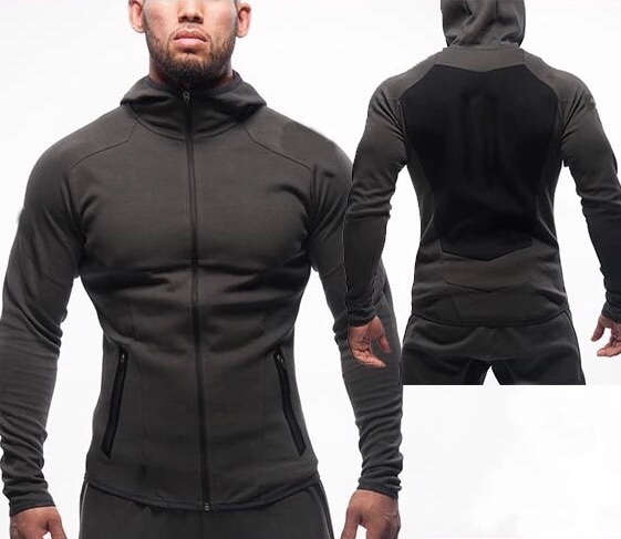 top quality fitness jacket / custom fitness hoodie / custom gym jacket