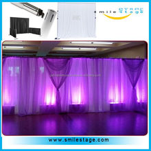 Used Flexible Pipe and Chiffon Drapes for Wedding Decoration for Wedding