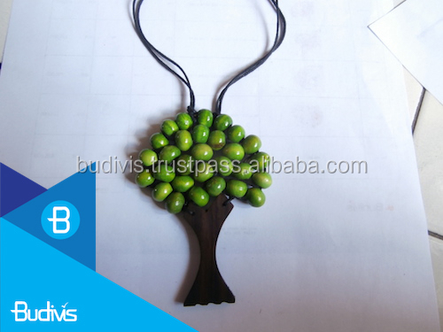 Wooden Jewelry Tree Necklace