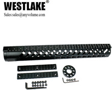 15 inch KEYMOD slim handguard free float quad rail with additional rail sections and end cap(WL-HG-KM15)