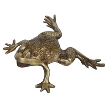 Brass Antique Finish Frog Figurine for Home Decor by Aakrati