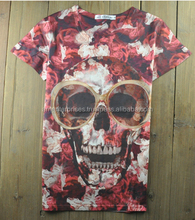 2017 Custom Sublimation t shirt/3d printing t shirt /all over printed