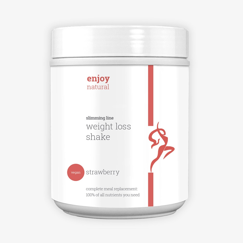 Enjoy Natural - slimming meal replacement shake - Strawberry