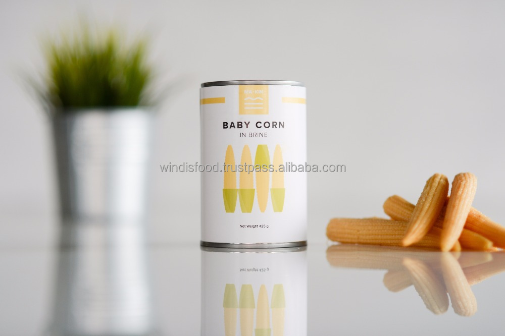 CANNED BABY CORN IN BRINE THAILAND