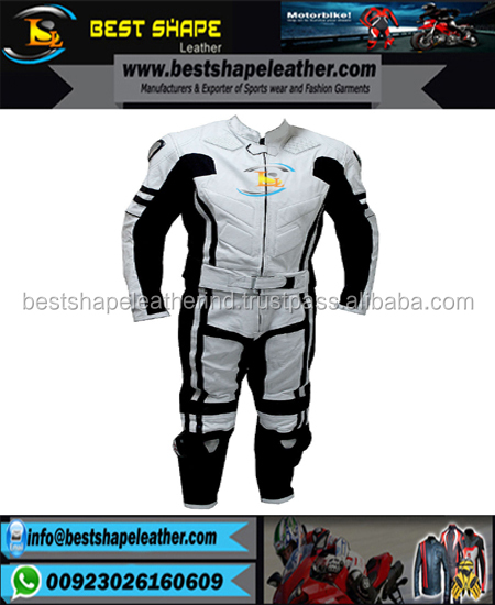 Road Race Street Motorbike Two Piece Leather Suits