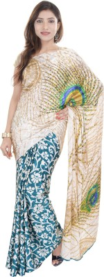 Women dress Peacock Printed Jacquard Silk sarees