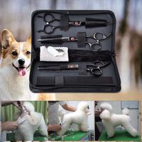8pcs Set Professional Pet Grooming Scissors Sets Dog Cutting Thinning Shears