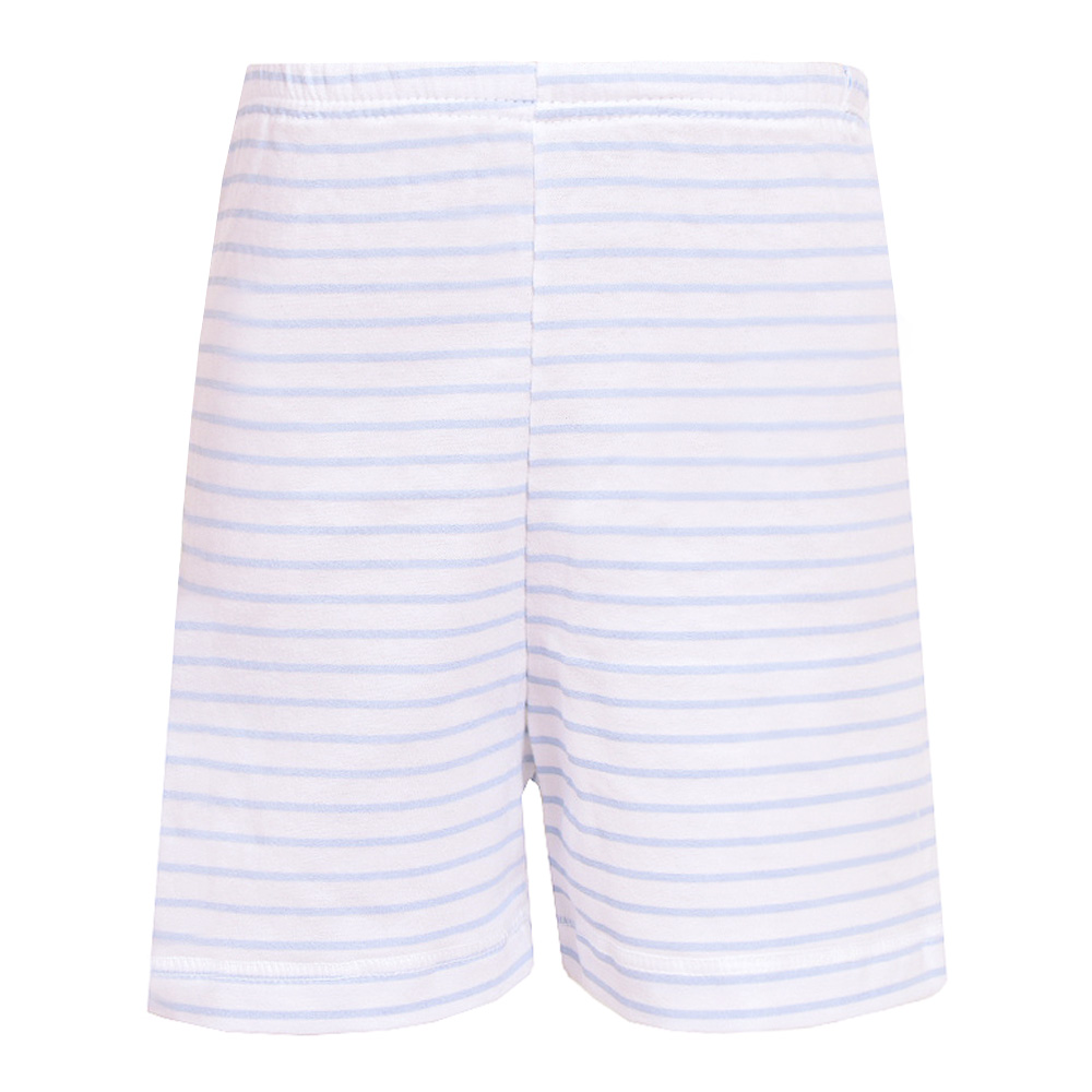 St. Patrick Baby Shorts Pair - Blue Stripes