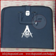 Masonic Apron Case with Square and Compass