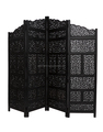 Black carved wooden Moroccan screen /room divider
