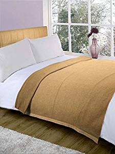 Fabutex Plain Beige fleece Blanket Pack Of 2