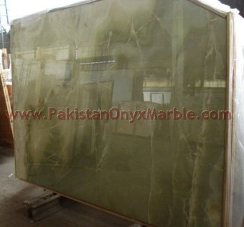 NATURAL STONE AFGHAN GREEN ONYX SLABS COLLECTION