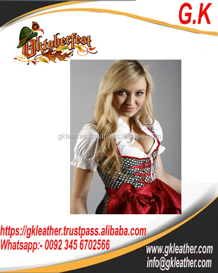 2017 Mini Dirndl with blouse and apron October festival , Trachten Dirndl Dress ,