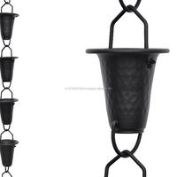 Aluminium Powder Coat Rain Chain For