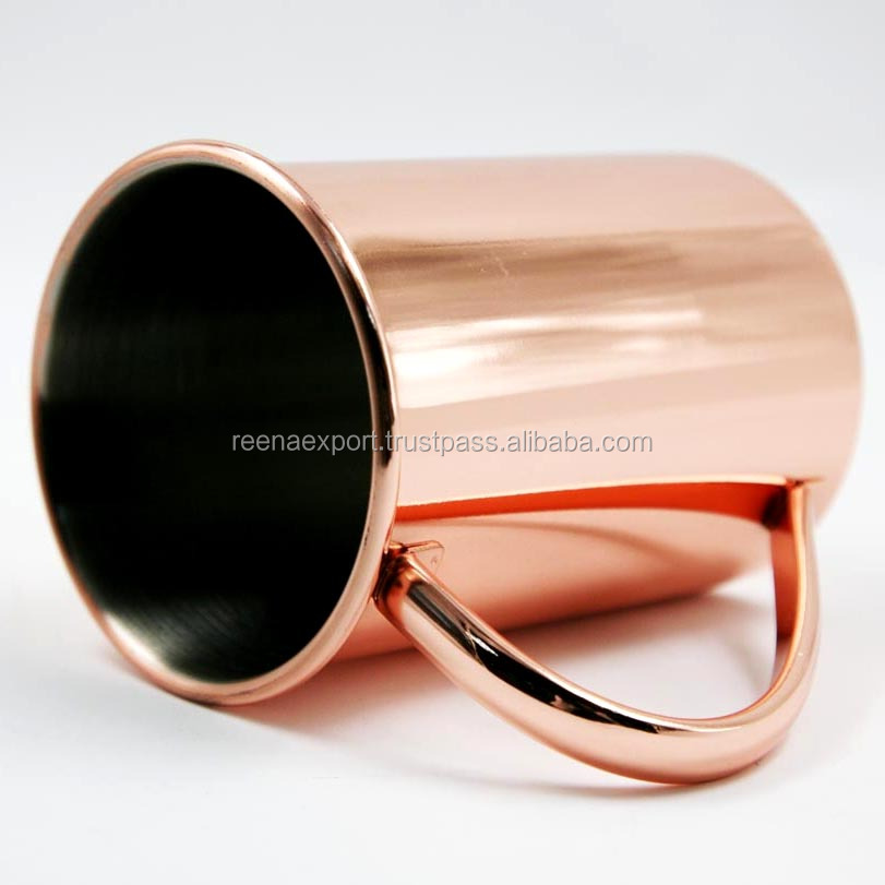 High Quality Stainless Steel Beer Cup 16oz Stainless Steel Copper Moscow Mule Drinking Mug