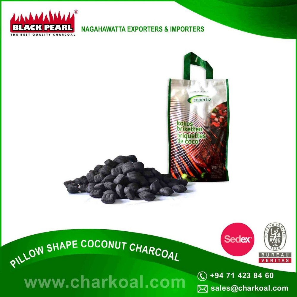 Supplier of Pillow Shape BBQ Charcoal at Export Rate