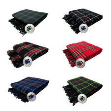 New Scottish Piper's Kilt Fly Plaid Tartans TRI-1829