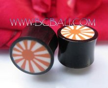 Resin Tribal Horn Tattoo Plugs