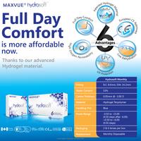 Maxvue Hydrosoft Monthly prescription Clear Lenses 24hours comfort