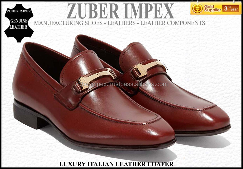 Top Brand Italian mens leather shoes- Luxury Leather Loafers for MEN