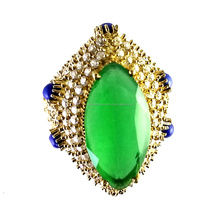 Classic Beauty Emerald_Lapis_CZ 925 Sterling Silver Ring With Brass, Turkish Silver Jewelry, 2016 Fashion Silver Jewelry