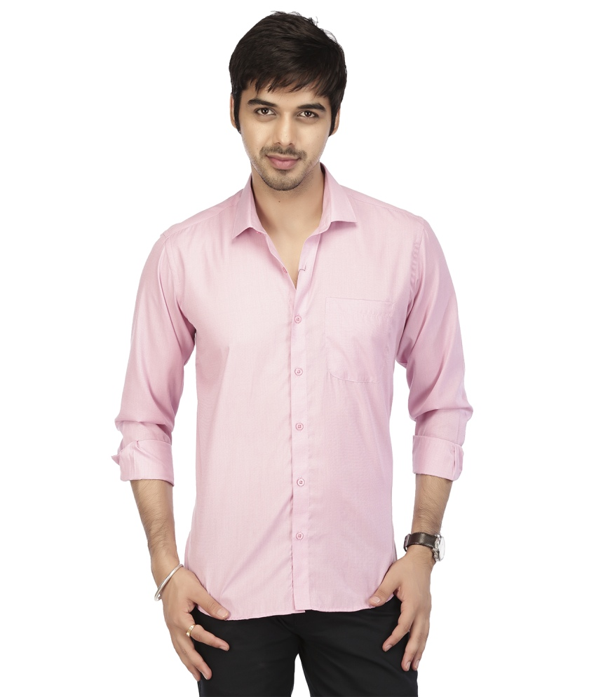 New Design Long Sleeve Casual Pink color Shirts for Men/ Model Shirt for Men