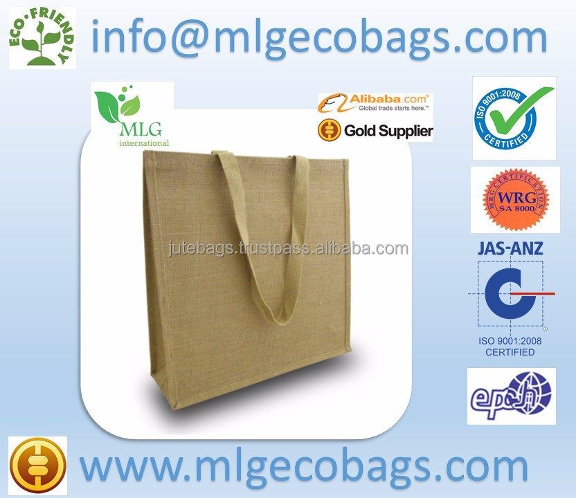 Jute Bags Promotional Kolkata West Bengal High quality customizable reusable shopping bag low price Wholesale Eco Durable tote