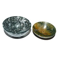 Moss Agate Gemstone Bowl