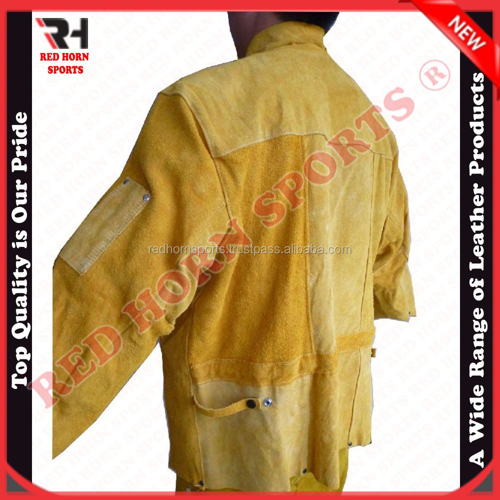 Working Safety Jacket, Leather Welding Jacket, Fire-Proof