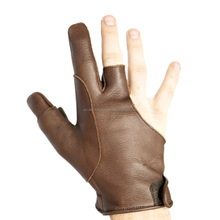 Glove for Thumb Draw Archery.