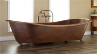 Pure Copper Elegant Design Bathing Tub With Heavy Claw Foot Design on Bath Tub