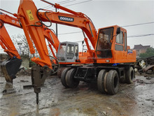 Used Doosan DH130 Wheel excavator, used Doosan Daewoo 130 wheel excavator price