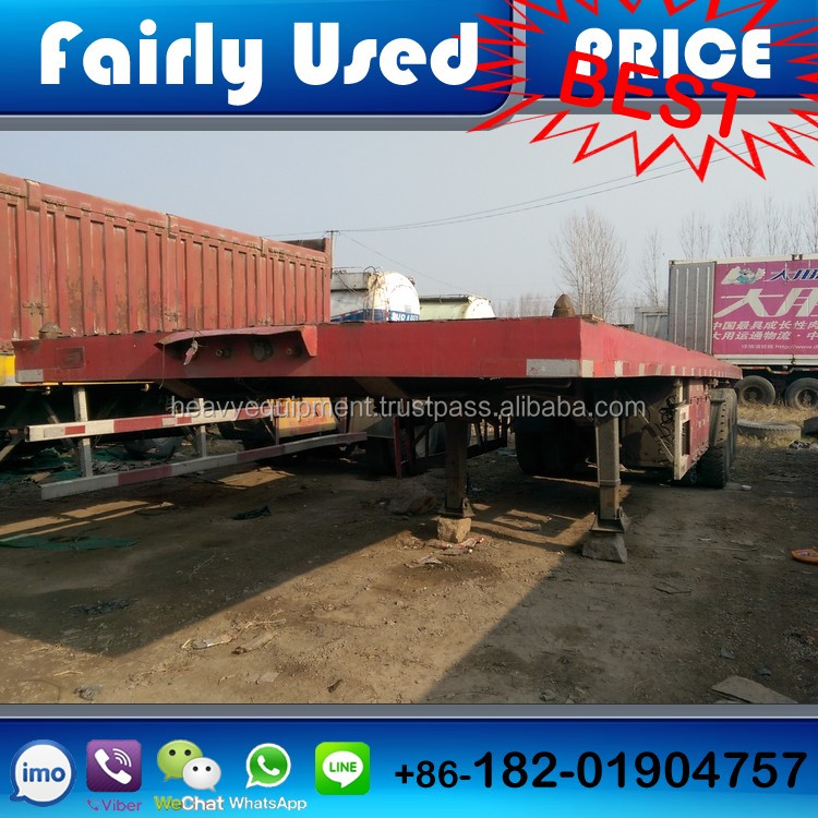 40ft Container trailer, used low price CIMC truck trailer, used 40ft container trailer