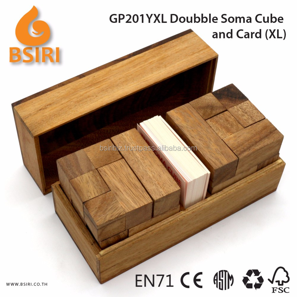 Doubble Soma Build and Card Wooden Christmas Puzzles