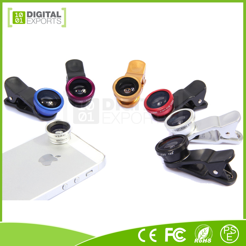 Digital Exports 3 in 1 clip camera lens, camera lens mobile phone, a727 cellular phone lens